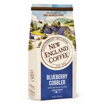 Blueberry Cobbler Flavored Coffee New England Coffee
