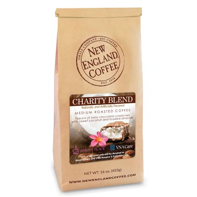Bag of Chocolate Coconut Flavored Coffee for which some proceeds will go to charity