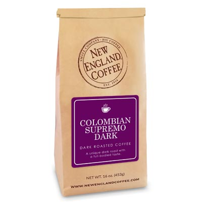 Bag of Colombian Supremo Dark Coffee