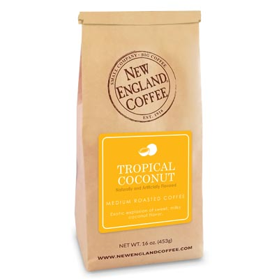 Bag of Tropical Coconut Flavored Coffee