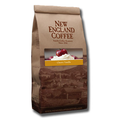 Packaging image for New England Coffee's Cherry Vanilla flavored coffee