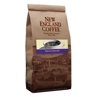 Packaging image for New England Coffee's Espresso Especiale flavored coffee