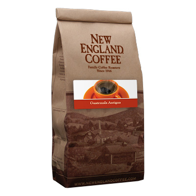 Packaging image for New England Coffee's Guatemala Antigua flavored coffee