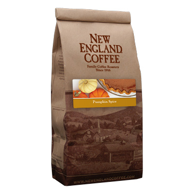 Packaging image for New England Coffee's Pumpkin Spice flavored coffee