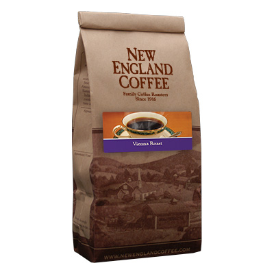 Packaging image for New England Coffee's Vienna Roast flavored coffee