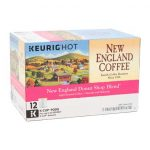 Box of New England Donut Shop Blend single serve coffee