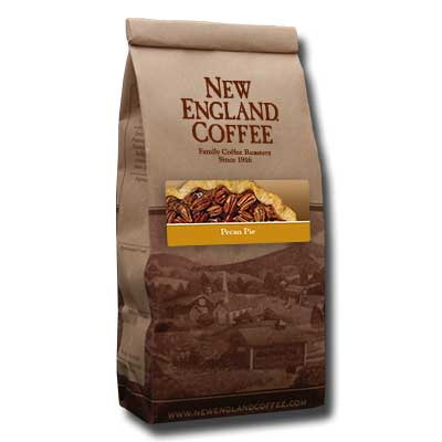 Packaging image for New England Coffee's Pecan Pie flavored coffee