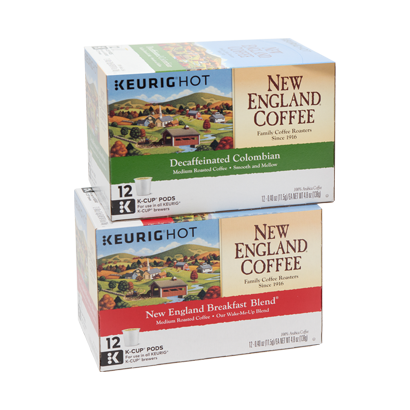 Keurig Coffee Single Cups New England Coffee