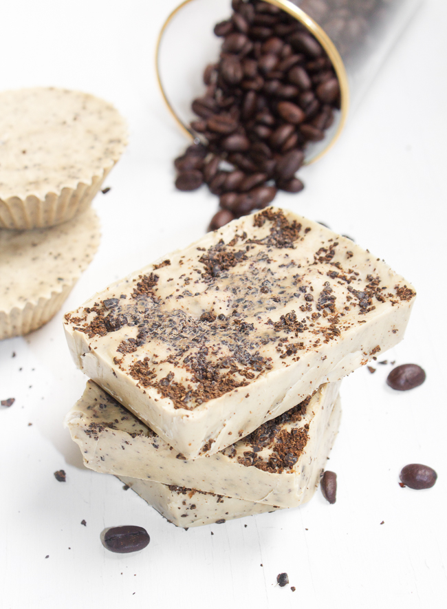 Homemade-Coffee-Mint-Soap-Bars-with-Real-Coffee-Grounds