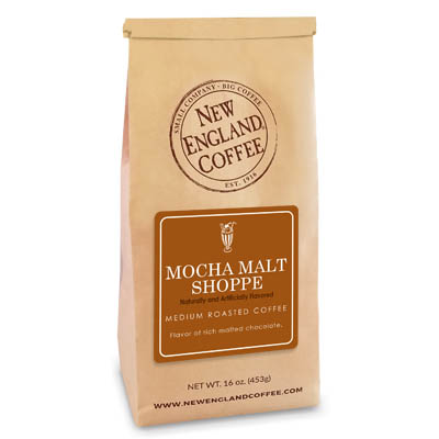 Bag of Mocha Malt Shoppe Flavored Coffee