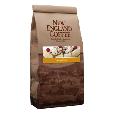 Packaging image for New England Coffee's Banana Split flavored coffee