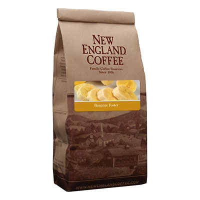 Packaging image for New England Coffee's Banana Foster flavored coffee
