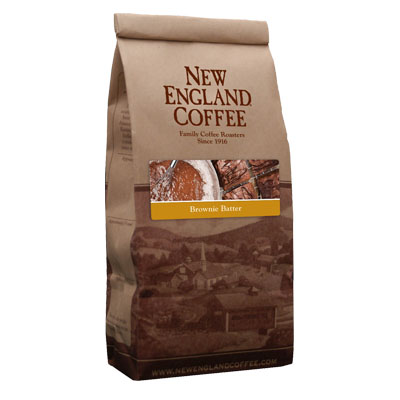 Packaging image for New England Coffee's Brownie Butter flavored coffee