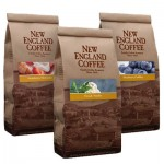 New England Coffee's patriotic flavored coffee: strawberry shortcake, french vanilla & blueberry cobbler.