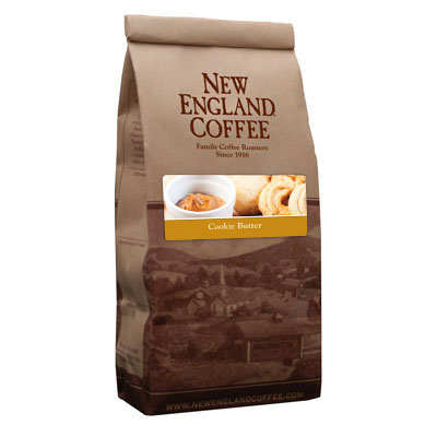 Packaging image for New England Coffee's Cookie Butter flavored coffee