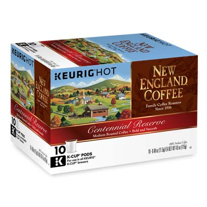 Box of single serve centennial reserve coffee