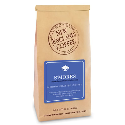 bag of s'mores flavored coffee